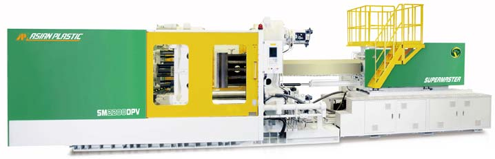 Two platen injection mold machine
